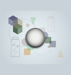 abstract background modern geometric futuristic vector image vector image