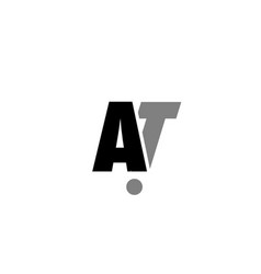 At a t black white grey alphabet letter logo icon vector