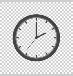 Clock icon flat design on isolated background vector