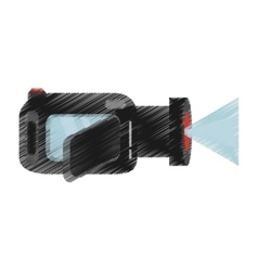 hand colored drawing video camera icon vector image