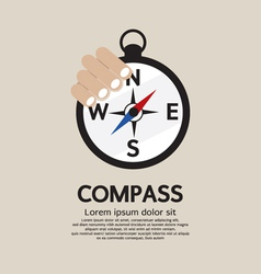 Hand Holding A Compass vector image