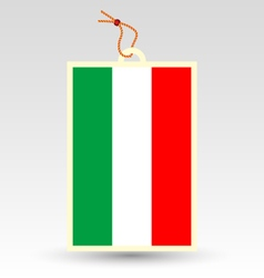 hungarian flag made in tag vector image vector image