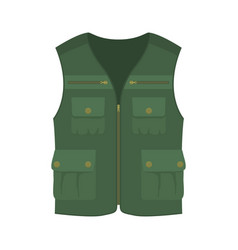 Hunting vest icon vector