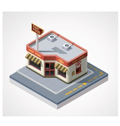 isometric fast food cafe vector image