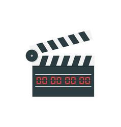 movie clapper board vector image