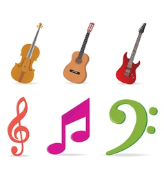 music symbols vector image vector image