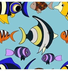 Pattern with fish vector image vector image