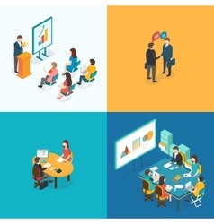 Presentation Partnership Job interview Business vector image vector image