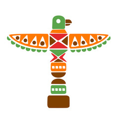 religious spiritual totem with eagle native vector image vector image
