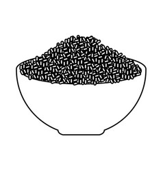 rice dish isolated icon vector image vector image