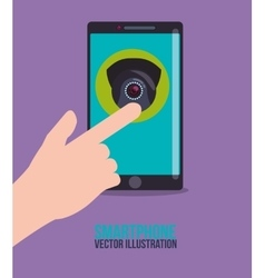 Smartphone technology graphic vector image