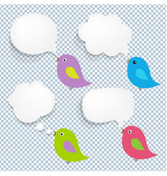 speech bubble and birds vector image vector image