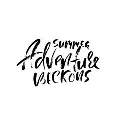 Summer adventure beckons typography poster vector
