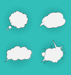 thoughts bubbles set pop art comics style vector image vector image