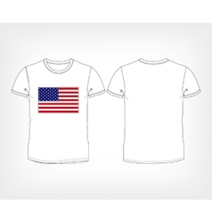 USA flag t-shirt vector image