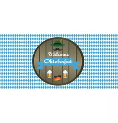 Welcome oktoberfest beer festival vector
