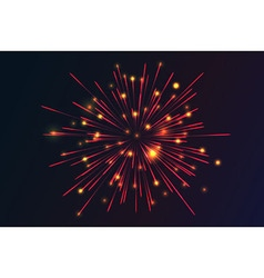 Glowing collection firework vector