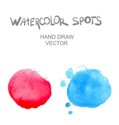 Watercolor spots vector