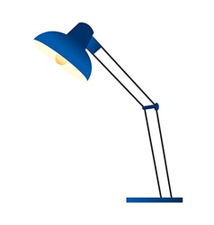 A standard lamp is placed vector image