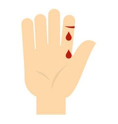 Bleeding human thumb icon isolated vector