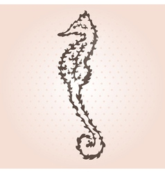 decorative seahorse vector image