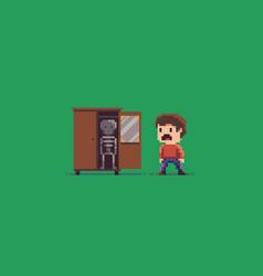 Skeleton in the cupboard vector