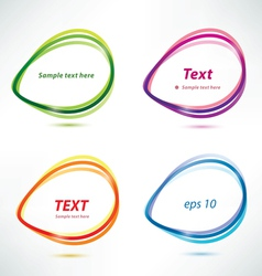 Speech bubbles set of icons vector