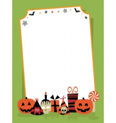 Halloween party sign vector