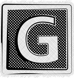 Polka dot font letter g vector