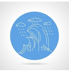 Sea waves blue icon vector
