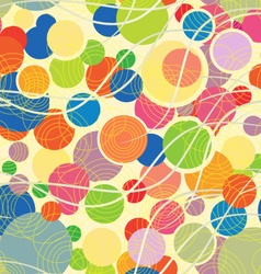 Colorful pattern with geometric shapes vector