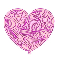 Decorative pink heart vector