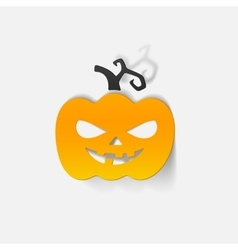 Realistic design element pumpkin vector