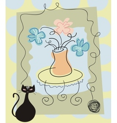 Still life background vector