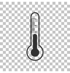 Meteo diagnostic technology thermometer sign dark vector