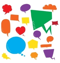 Coloful set of talk and think bubles group vector