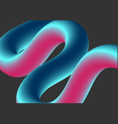 abstract colorful 3d wavy shape background vector image