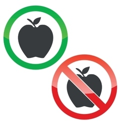 Apple permission signs set vector image