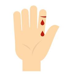 Bleeding human thumb icon isolated vector