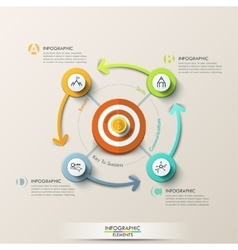 Business target marketing concept vector image