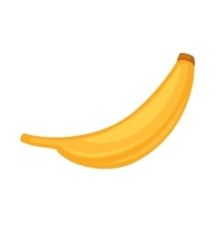 Color Banana fruit icon Modern simple flat vector image