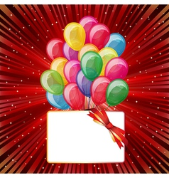 Colorful brightly backdrop with balloons stars vector image vector image