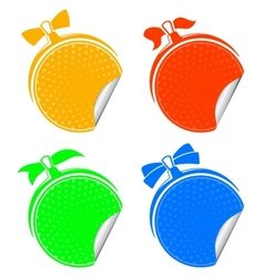 colorful stickers set vector image