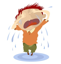 Crying child vector
