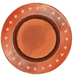 Denim bronze sewing button in vintage style vector