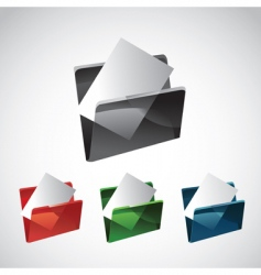 folder and file vector image vector image