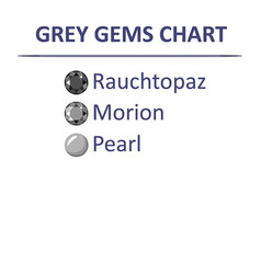 gems grey color chart vector image