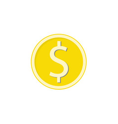 gold dollar coin flat icon finance and business vector image