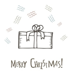 Hand drawn gifts with bows in cartoon style vector image vector image