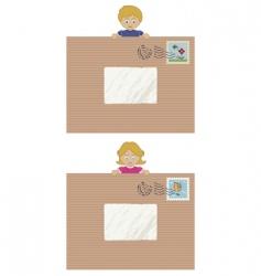 kids letters vector image